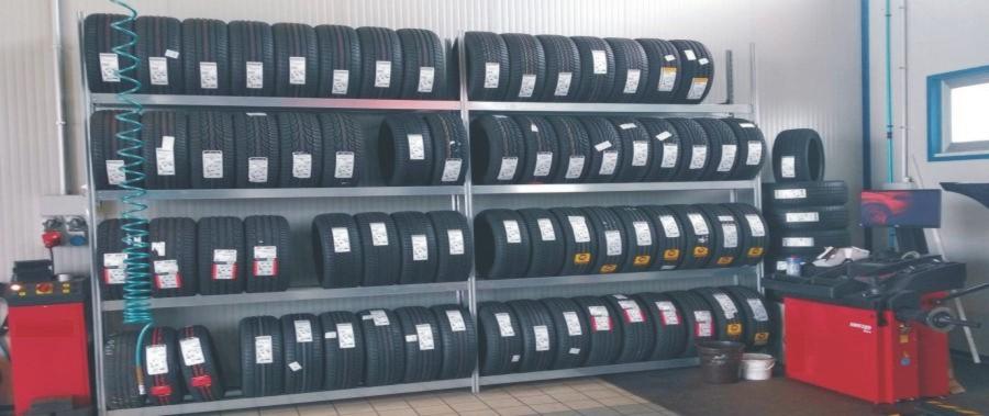 scaffali metallici per pneumatici offerta 690 modello E40 euroscaffale