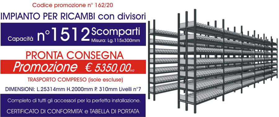 offerta scaffalature metalliche per ricambi con 1512 E40 euroscaffale