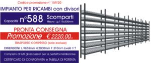 offerta scaffali industriali per ricambi con 588 scomparti E40 euroscaffale