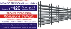offerta scaffali metallici per ricambi con 420 scompartiE40 euroscaffale