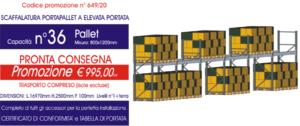 offerta per scaffali portapallet modello E90 Euroscaffale con 36 posti pallet