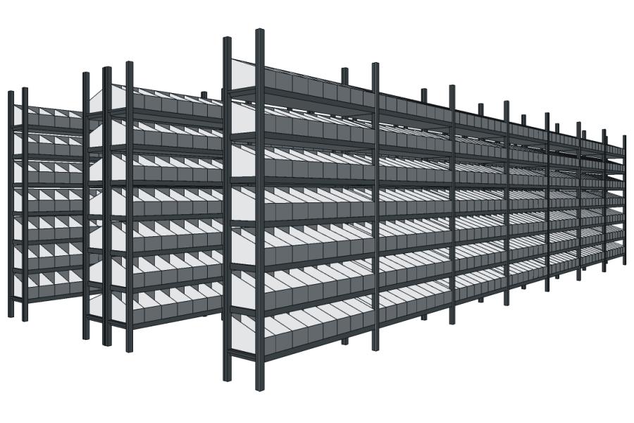 offerta scaffali per magazzino termoidraulica modello E40 Euroscaffale