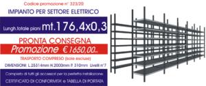 offerta Euroscaffale per scaffali magazzino settore elettrico modello E40 da 176,40 mt lineari