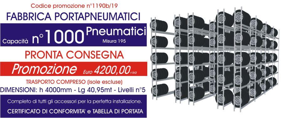 promozione per scaffali magazzino di pneumatici modello E40 euroscaffale