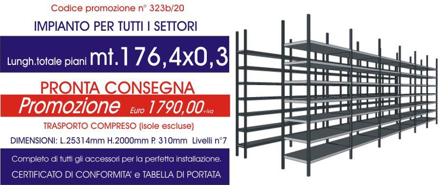 offerta scaffalature metalliche per tutti i settori da 176,4 mt di piano modello E40 euroscaffale