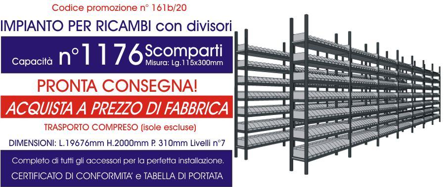 offerta scaffali magazzino per ricambi con 1176 scomparti E40 euroscaffale