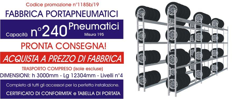prezzo promozionale scaffalature per pneumatici modello E40 euroscaffale