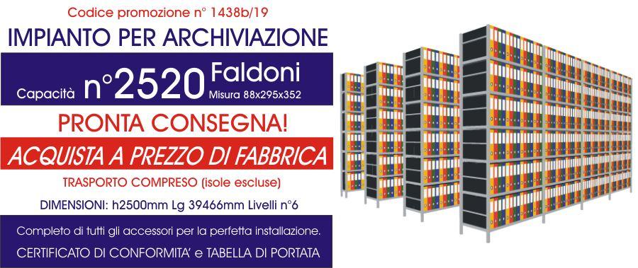 costo promozionale scaffalature metalliche industriali per archivio faldoni modello E40 euroscaffale