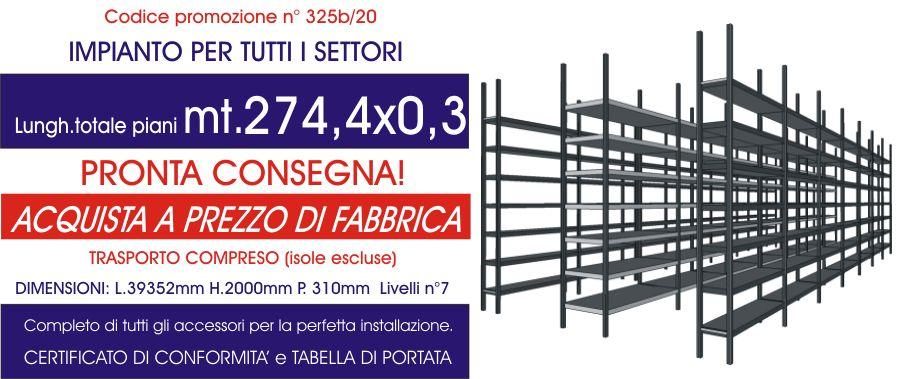 offerta scaffalatura industriale per tutti i settori solo piano modello E40 euroscaffale