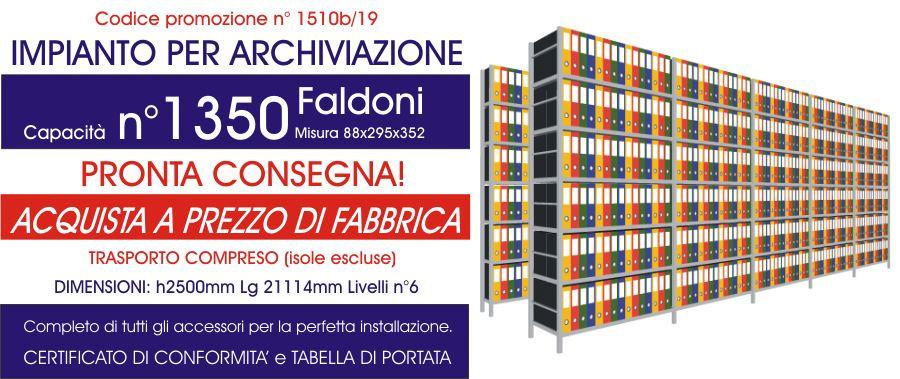promozione per scaffalature metalliche ad incastro a prezzi scontati per archivio da 1350 faldoni modello E40 euroscaffale